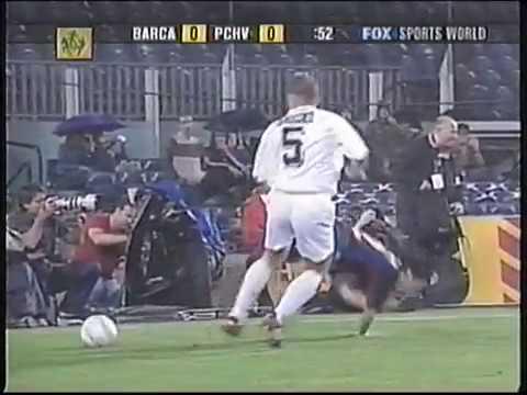 Barcelona vs Púchov-UEFA 2003-Full match-English audio.