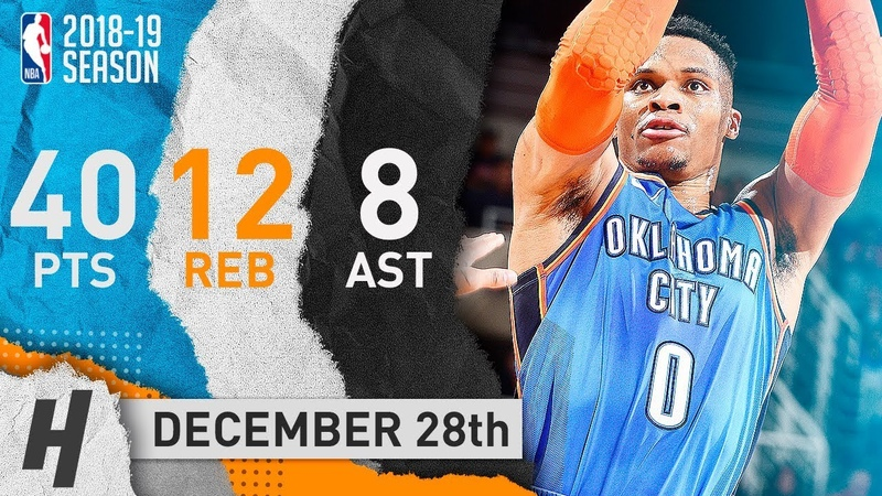Russell Westbrook GOES OFF in Phoenix CRAZY Highlights vs Suns 2018 12 28 40 Pts 12 Reb 8 Ast