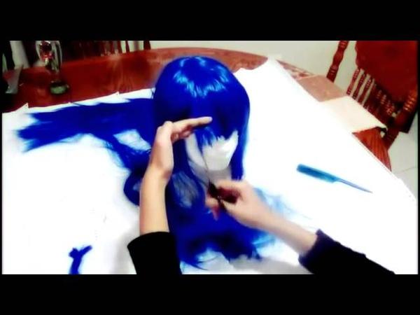 Cutting styling a Wig Izumi Konata