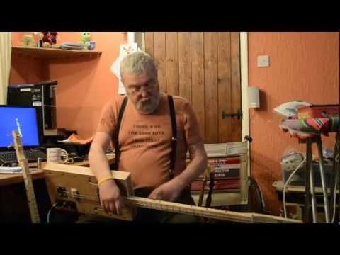 Jimbos cigar-box bass guitars