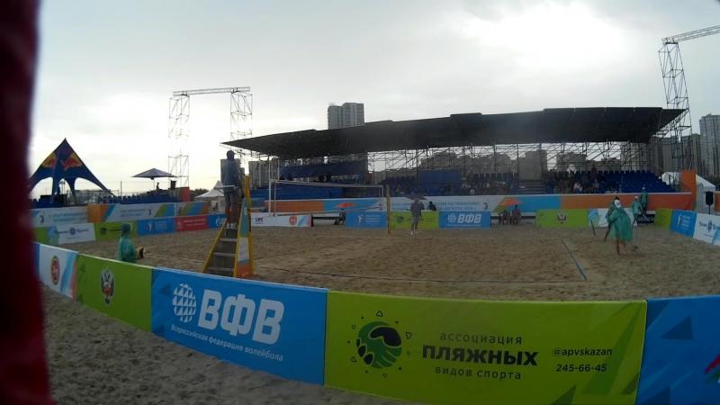 Beach volley Russia Kazan 2018 M 09 Alfimov-Ermishenkov and Bogatov-Rakusov