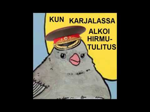 Annoyed bird meme but crow is a Finnish nationalist