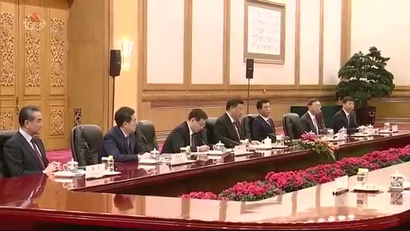 Choson TV 김정은동지께서 중국을 방문하시였다