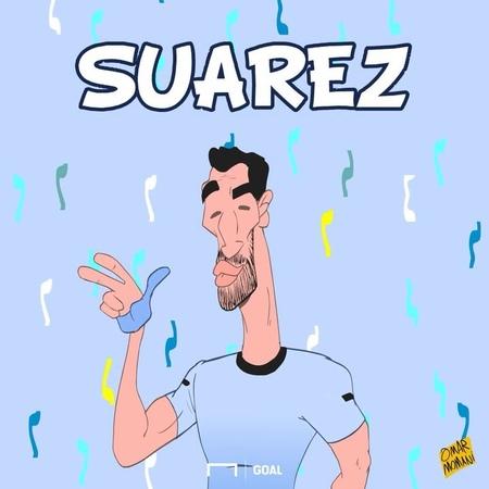 Луис Суарес является первым игроком Уругвая который сумел забить на трех Чемпионатах Мира