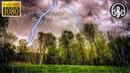 Сильный дождь с громом и молниями под пение птиц. 10 Часов глубокого сна