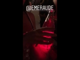 Glowing water @HarryShumJr @EmeraudeToubia at the TeenChoiceAwards ShadowhuntersTakeTCA