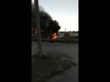На стоянке у трассы М4 в Каменске-Шахтинском горит авто