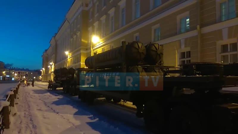 Репетиция к параду в честь 75-летней годовщины снятия блокады Ленинграда