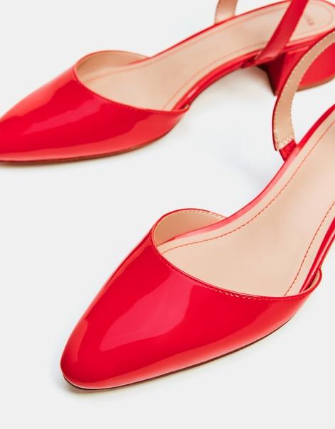 Туфли-мюли на каблуке