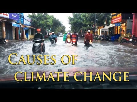 Biến đổi khí hậu - Đường phố Vũng Tàu biến thành sông. Climate change in Vung Tau