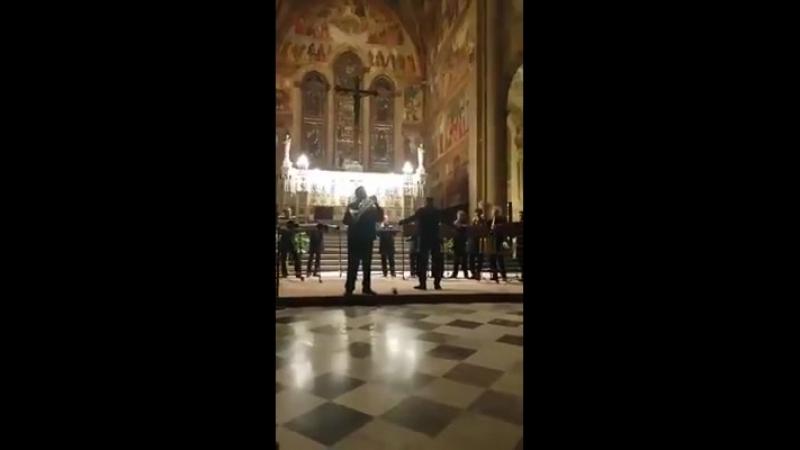 Russian Horn Orchestra Conductor Serge Polyanichko Soloist Luca Benucci Adagio by A.Marcello