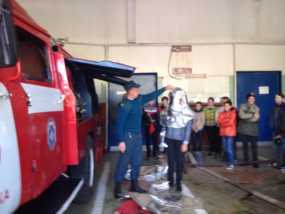 Экскурсия в 20 пожарно-спасательной части