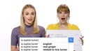 Sophie Turner & Jessica Chastain Answer the Web's Most Searched Questions   WIRED