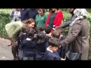 VideoKate DuchessOfCambridge meet kids from St Augustine's Primary. Are you going to show me around she asks. She laughs as she