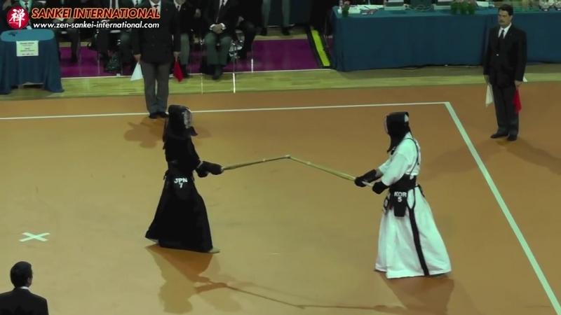 Kendo「剣道」- 15й Мировой Чемпионат по Кендо (Корея - Япония)