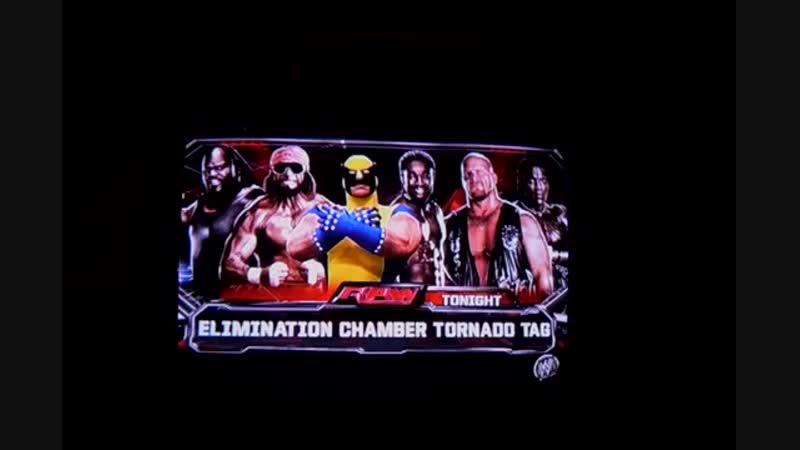 WWE2K14 Elimination Chamber tornado tag Wolverine Randy Savage Steve Austin vs niggers Росомаха 11DeadFace