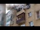 Семья с детьми спрыгнула с пятого этажа спасаясь от пожара