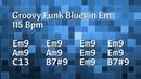 Funky Groovy Blues Backing Track E Minor - 115 Bpm