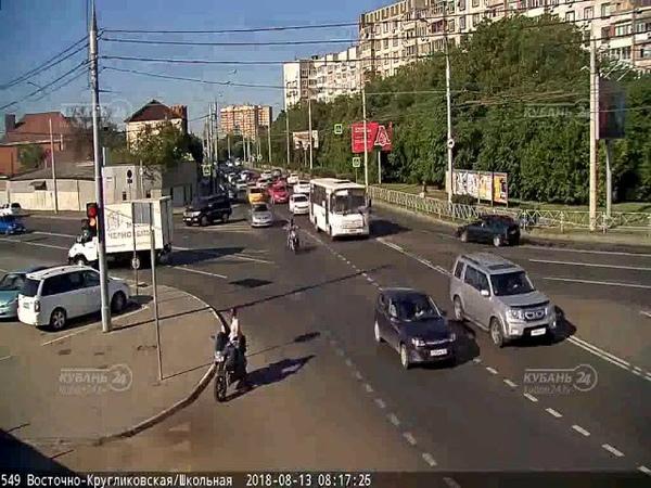 ДТП на ул Восточно Кругликовская и ул Школьная 13 08 2018