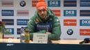 Пресс-конференция после мужской гонки преследования. Хохфильцен 2018