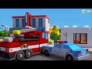 мультик про полицейскую и пожарную машину
