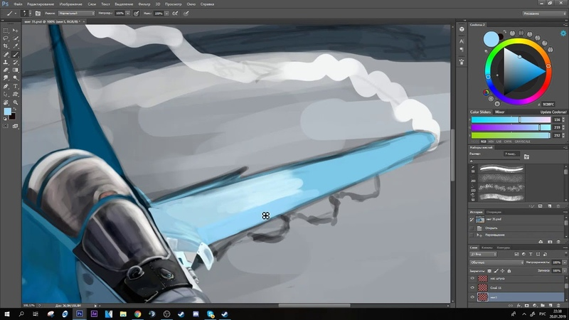 Speed painting Mig 35 (test)