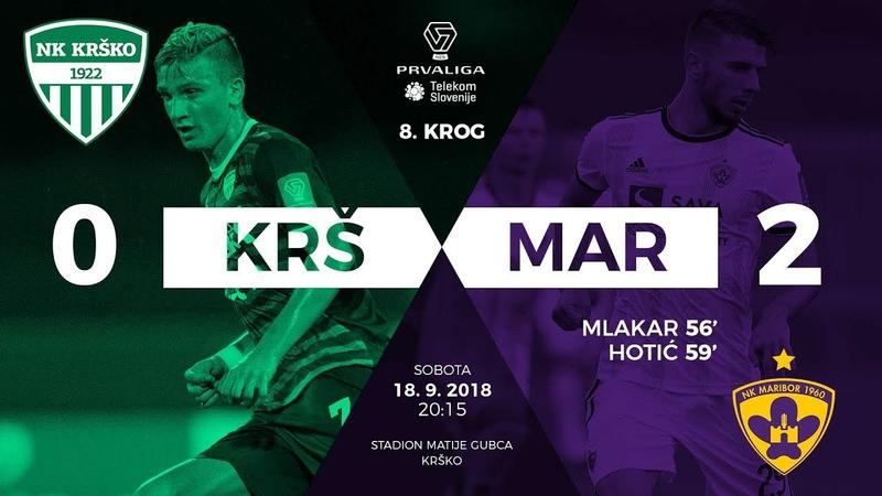 8.krog Krško - Maribor 02 Prva liga Telekom Slovenije 20182019