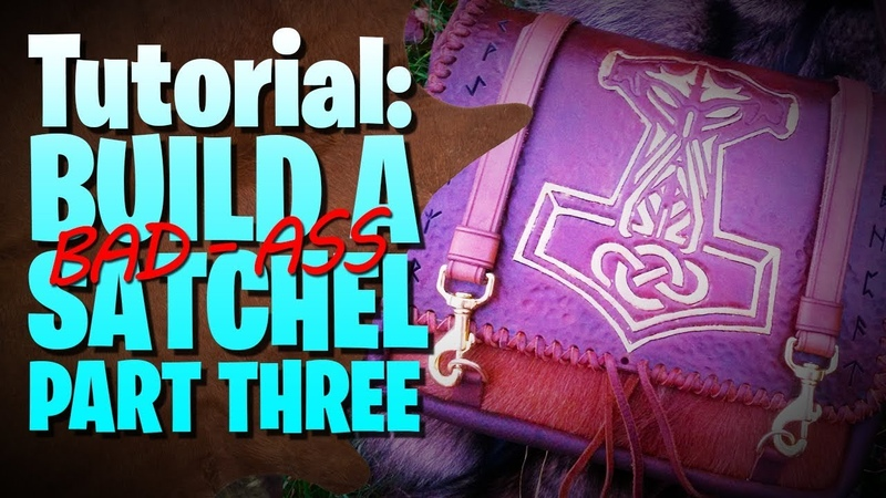 Build A Leather Satchel Preparing The Carry System 🔰 Part 3 ❤ leathercraft tutorial