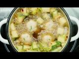 Овощной суп с рыбными тефтелями