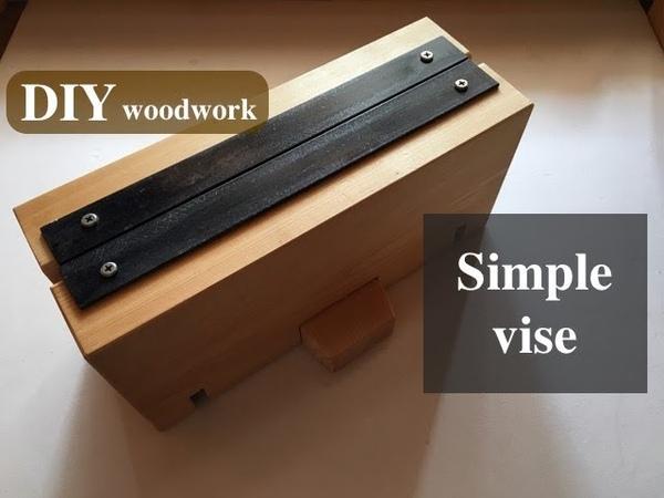 単純構造の卓上バイス(万力)を作る/Making a simple vise.