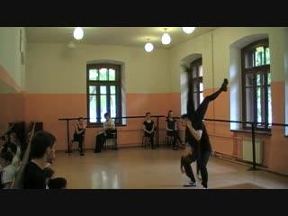 Парная акробатика, 1 курс театрального института (НГТИ)
