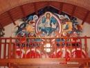 Reproducción del Pantocrátor de San Clemente de Tahull en ermita Ntra. Sra. de Begoña, Can Marial - Turó del Sol en Sant Vicenç