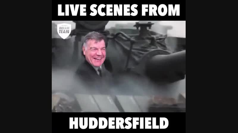 When Big Sam hears the Huddersfield job is going 😂