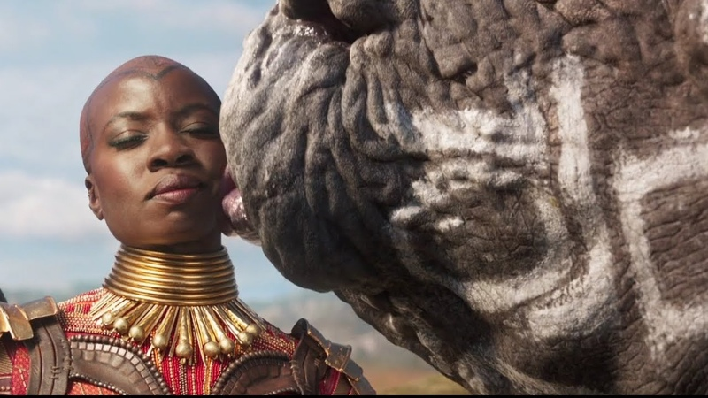 Black Panther - Rhino Okoye - fight scene Clip HD