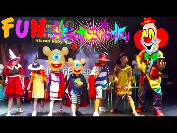 Fun kids videos | Mini Disco | Happy Birthday | Funny Clown Show | Ballon Challenge | Kirman Belazur