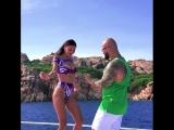 Оксана Самойлова и Джиган танцуют на яхте (5.08.18)