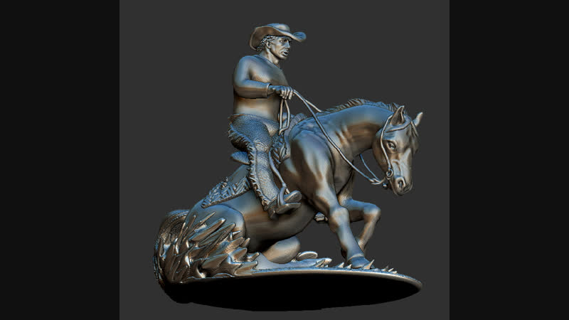 Брелок Ковбой на коне .