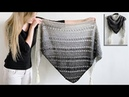 TRIANGLE CROCHET SHAWL FOR BEGINNERS WORKED BOTTOM UP