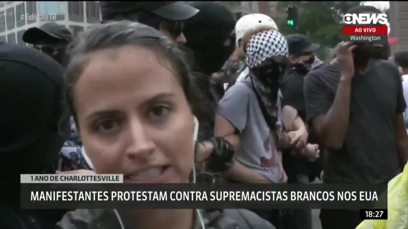 Repórter da GloboNews é ameaçada de morte ao vivo
