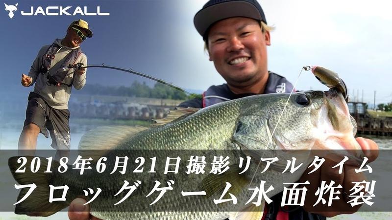 【バス釣り】2018年6月21日撮影 フロッグゲーム水面炸裂 / ジャッカル