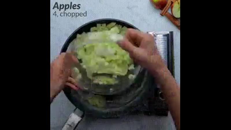 Яблочно карамельные булочки 🐰 mp4