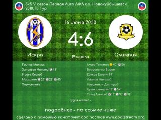 5 сезон Первая Лига 13 тур Искра - Олимпия 16.06.2018