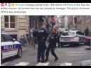 France: Hostage taking in the 10th district of Paris in the 'Rue des petites écuries'. An armed man has two people as hostages.