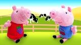Мультик Свинка Пеппа и животные с фермы. Зачем Свинке овечка, петух и курочка Видео с игрушками
