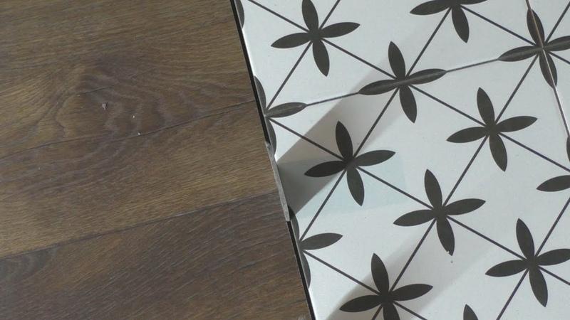 Необычный способ резки ламината без сколов. Стык плитки и ламината .Тонкости работы.