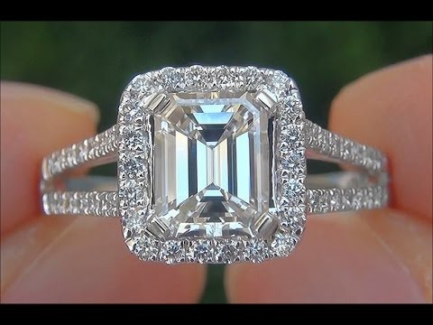 GIA Certified VS2 Colorless Natural Untreated Diamond Engagement Wedding 14k WhiteGold Ring - C429