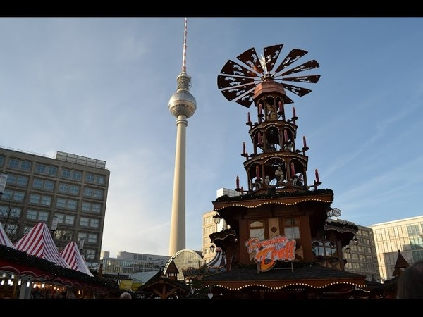 360video Weihnachtsmarkt auf dem Alexanderplatz, Berlin (2016) - рождественский базар, Александерплац, Берлин, Бавария