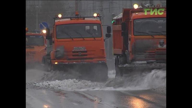 С территории Самары за две недели нового года уже вывезли 157 тысяч тонн снега