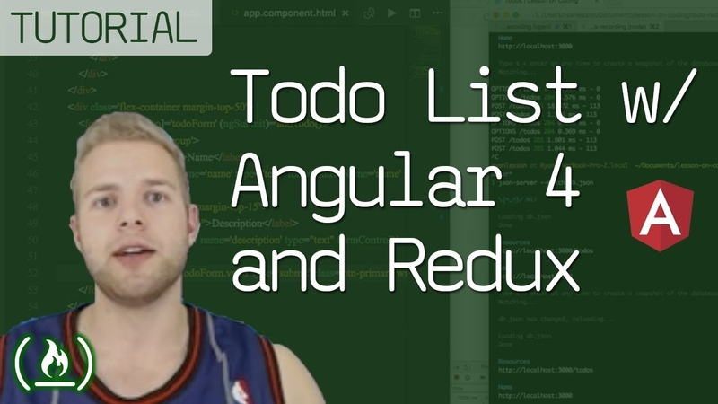 Todo List Tutorial - Angular 4 and Redux