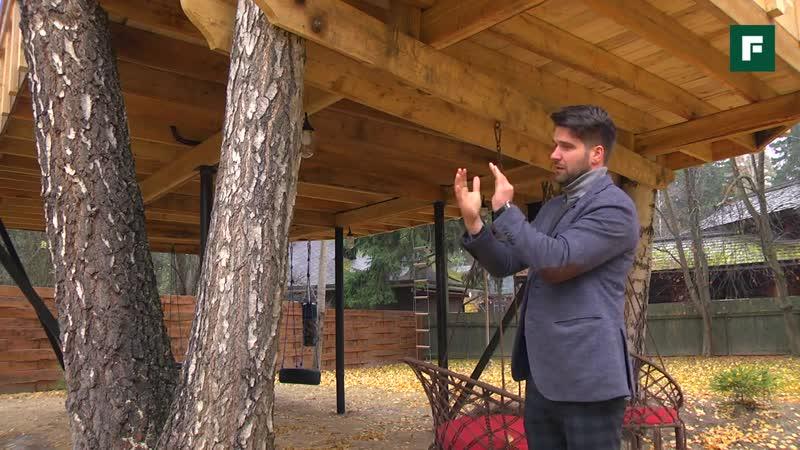Домик на дереве с детской площадкой- особенности конструктива -- FORUMHOUSE